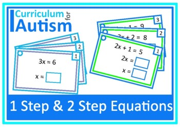 One Step and Two Step Equations Autism Special Education