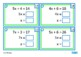 Algebra Solve Equations Task Cards, Middle School Math, Au