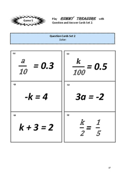 Algebra: Solve Simple Equations