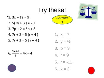 Algebra: Solving Equations REVISION POWERPOINT