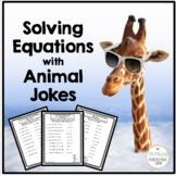 Algebra Solving Equations Practice with Animal Jokes