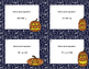 Algebra-Solving Equations Using All 4 Operations-Math Task Cards-Halloween