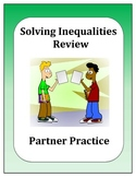 Algebra: Solving Inequalities Partner Review