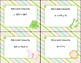 Algebra-Solving Inequalities by Adding or Subtracting-Spring Theme-40 Task Cards