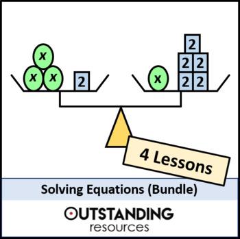 Algebra: Solving Linear Equations Bundle (3 lessons)