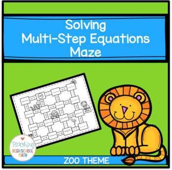 Algebra Solving Multi Step Equations with Distributive Property Maze