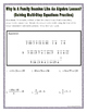 Solving Multistep Equations Practice Riddle Worksheet