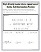 Solving Multistep Equations Practice Riddle Worksheet