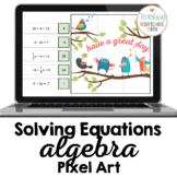 Algebra Solving One Step Two Step Equations Pixel Art Goog