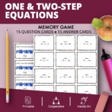 Algebra: One and Two Step Equations Math Memory Game