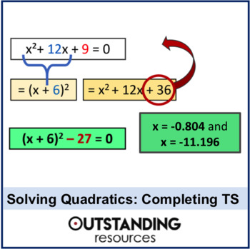 Algebra: Solving Quadratic Equations 3 - by Completing the Square
