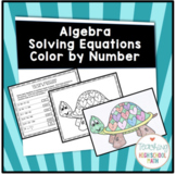 Algebra Solving Two Step Equations Color By Number