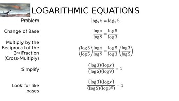 Algebra - Solving a Logarithmic Equation