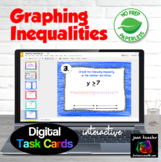 Graphing Inequalities Digital Interactive Task Cards with GOOGLE slides
