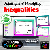 Algebra Solving and Graphing Inequalities Digital Task Car