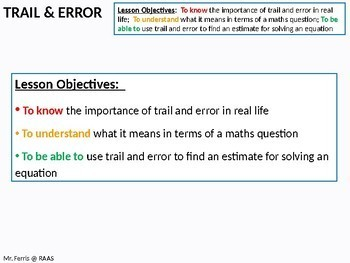 Algebra: Solving Cubic and Quadratic Equations by Trial and Error