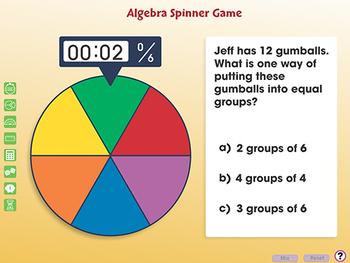 Algebra: Spinner Game - PC Gr. PK-2