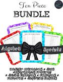 Algebra Sprints 10 Piece Bundle--Quick Ways to Review Esse
