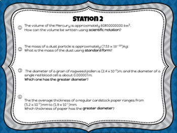 Algebra Station Bundle Irrational Number, Scientific Notation, Statistics