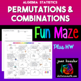Combinations Permutations FUN Maze plus Quiz - HW