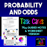 Algebra Statistics Odds Probability Task Cards Guided Notes