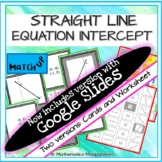 Algebra Straight Line Equation Intercept Match Up