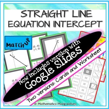 Algebra Straight Line Equation Intercept Match Up