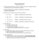 Algebra: Student-Made Quizzes