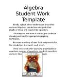 Algebra Student Work Template
