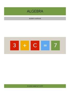 Algebra - Student workbook