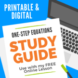 Solving One-Step Equations Study Guide