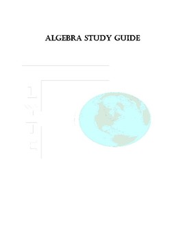 Algebra Study Guide for Middle School and High School