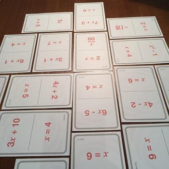 Algebra Substitution Bingo