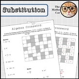 Algebra Substitution Crossword Activity 3 Levels
