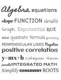 Algebra Subway Art