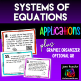 Systems of Equations Applications Word Problems