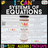 Algebra 1 Solving Systems of Equations Game
