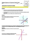 Algebra : Systems of Equations Notes for Teacher and Stude