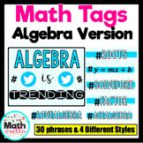 Algebra HashTag Posters