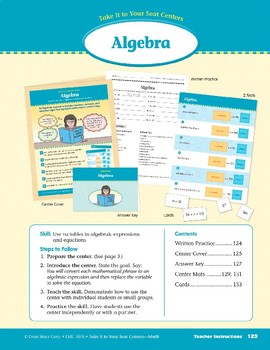 Algebra (Take It to Your Seat Centers Common Core Math)
