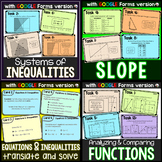 Algebra Task Cards Mini Bundle
