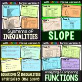 Algebra Task Cards mini-bundle - print and digital