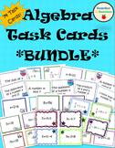 Algebra Task Card **BUNDLE** (equations, expressions)