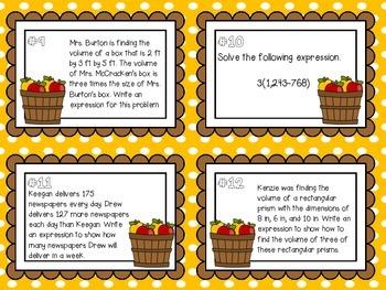 Algebra Task Cards!