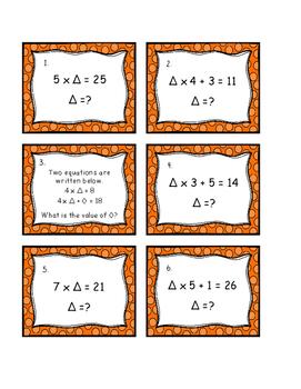 Algebra Task Cards