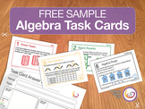 Algebra Task Cards Free Sample