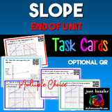 Algebra  Slope Task Cards  End of Unit with optional QR