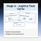 Algebra Task Cards - Stage 4 - 50 + Questions