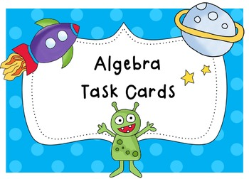 Algebra Task Cards (multiplication, division, addition, and subtraction)