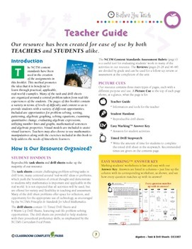 Algebra - Task & Drill Sheets Gr. 3-5 - Canadian Content